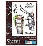SO: Sheena Douglass A Little Bit Sketchy A6 Unmounted Rubber Stamp - bYGONE fARM