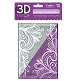Crafters Companion Ornate Lace 5x7 3D Embossing Folder