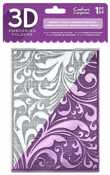 Crafters Companion Regency Swirls 5x7 3D Embossing Folder