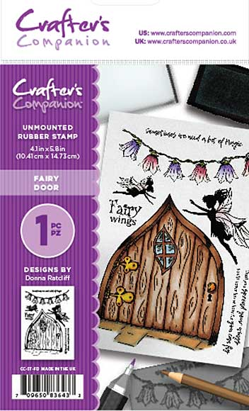 Crafter\'s Companion - Fairy Door (A6 Unmounted Rubber Stamp)