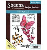 SO: Sheena Douglass Perfect Partner - Butterfly Beauty (A5 Unmounted Rubber Stamp)