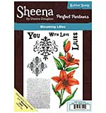 Sheena Douglass Perfect Partner - Blooming Lilies (A5 Unmounted Rubber Stamp)