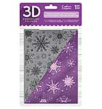 Crafter's Companion 3D Embossing Folder - Sparkling Snowflake (5x7)