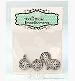 Hobby House Charms - Clock Faces - Silver
