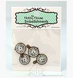 SO: Hobby House Charms - Clock Faces - Antique Gold
