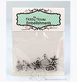 SO: Hobby House Charms - Shells Mix - Silver