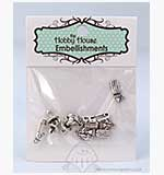 SO: Hobby House Charms - Baby Time - Silver