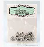 SO: Hobby House Charms - Delicate Hearts - Silver