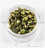 Hobby House Mini Brads - Pearlescent Olive Green
