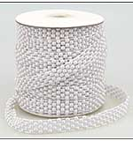 Pearl Strings Lattice Weave White (1 metre)