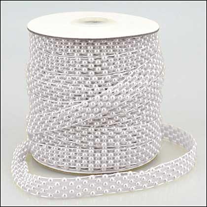 SO: Pearl Strings Lattice Weave White (1 metre)