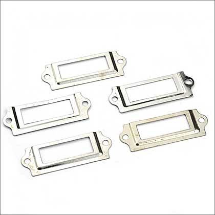 Hobby House Hardware Findings - Silver Label Holders
