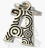 Charm with Clip - Silver Plated Letter - A
