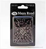 Maya Road Vintage Pearl Pins - Dark Brown