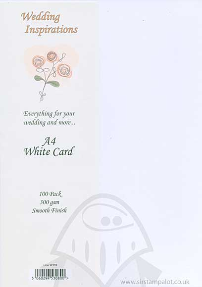 SO: Craft UK Ltd 300gsm A4 Smooth Finish Card - White (100)