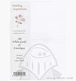 Craft UK Ltd 300gsm A6 Linen Cards and Envelopes - White (50)