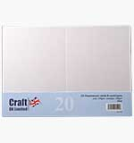 SO: Craft UK - Pearlescent White C6 Cards and Envelopes 20pk