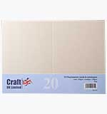 Craft UK - Pearlescent Ivory  C6 Cards and Envelopes 20pk