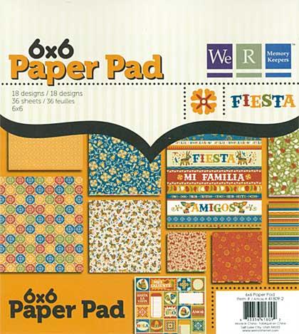 SO: We R Memory Keepers 6x6 Paper Pad - Fiesta
