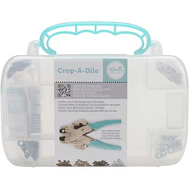 We R Memory Keepers - Crop-A-Dile Case with Eyelets - Pink