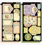SO: Graphic 45 Secret Garden Collection Die Cuts - Tags and Pockets