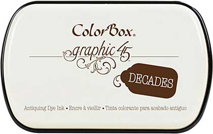 Graphic 45 - ColorBox Decade Ink Pad - Dark Cashmere