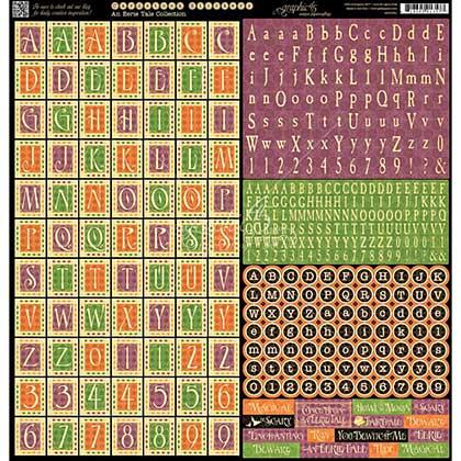 SO: An Eerie Tale - Cardstock Stickers 12x12 - Alphabet
