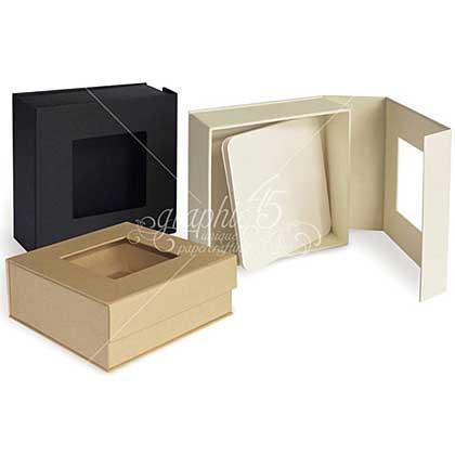 SO: Graphic 45 - Ivory - Staples Mixed Media Box 5x5