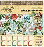 Graphic 45 - 8x8 Paper Pad - Time to Flourish Calendar Pad