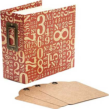 SO: Graphic 45 Staples Tag and Pocket Album - Red Numbers
