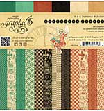 Graphic 45 Double-Sided Paper Pad 6x6 36pk - Enchanted Forest, Prints and Solids