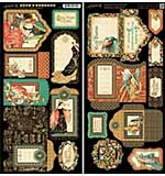 Graphic 45 Enchanted Forest Cardstock Die-Cuts 6x12 Sheets 2pk - Tags and Pockets
