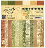 Graphic 45 Double-Sided Paper Pad 6x6 36pk - Safari Adventure, Prints and Solids