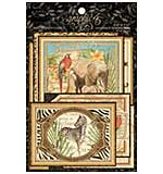 Safari Adventure Ephemera Cards - (16) 4x6 and (16) 3x4