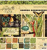 Graphic 45 Double-Sided Paper Pad 8x8 24pk - Nature Sketchbook, 12 Designs-2 Each