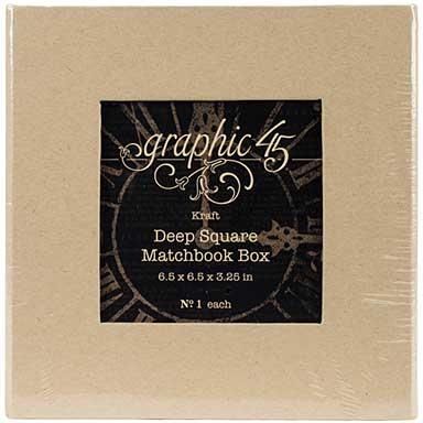 SO: Graphic 45 Staples Deep Matchbook Box (6x6x3)