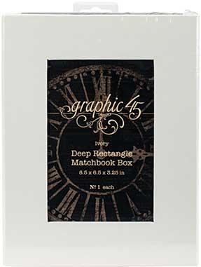 Graphic 45 Staples - Deep Matchbook Box (8.5x6.25x3)