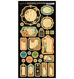 Graphic 45 Vintage Hollywood Chipboard Die-Cuts 6X12 Sheet - Journaling