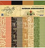 SO: Graphic 45 Master Detective 12x12 Double-Sided Paper Pad Print and Solid, 16pk (8 Designs)