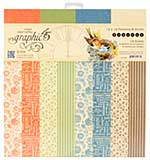 SO: Graphic 45 Seasons 12x12 Double-Sided Paper Pad Print and Solid, 16pk (8 Designs)