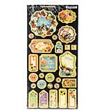 Graphic 45 Seasons Chipboard Decorative and Journaling Die-Cuts 6x12 Sheet