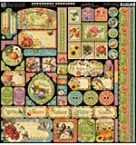 Graphic 45 Seasons Decorative Cardstock Stickers 12x12