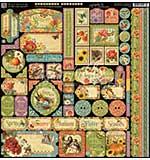 SO: Graphic 45 Seasons Decorative Cardstock Stickers 12x12