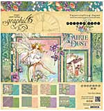 SO: Graphic 45 Fairie Dust 8x8 Double-Sided Paper Pad 24pk (8 Designs 3 Each)