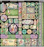 Graphic 45 Fairie Dust Decorative Cardstock Stickers 12x12