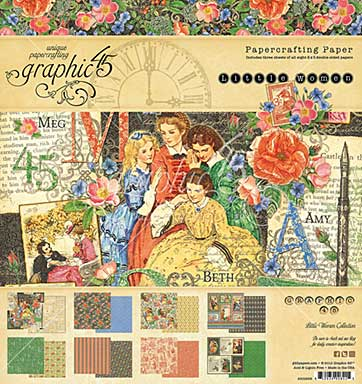 SO: Graphic 45 Little Women 8x8 Double-Sided Paper Pad 24pk (8 Designs 3 Each)