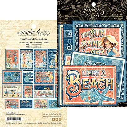 SO: Graphic 45 Sun Kissed Journaling and Ephemera Cards 32pk (4x6 and 3x4)