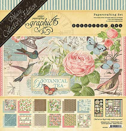 SO: Graphic 45 Botanical Tea Deluxe Collectors Edition Pack 12x12
