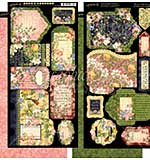 PRE: Graphic 45 Floral Shoppe Tags and Pockets 6x12 Cardstock Die-Cuts Sheets (2pk)