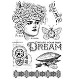 Graphic 45 Imagine - Dream - Clear Acrylic Stamps